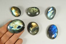 Labradorite big lot - intensive labradorescence - full polished - 188gm (6)