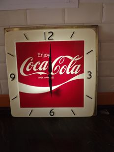 Coca Cola clock with light - original USA