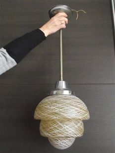 Art Deco - Pendant light with exceptional shade