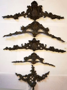 Five cast bronze friezes, Northern Italy early 1900s