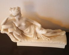 After Canova - nude sculpture made of ivorine - Pauline Bonaparte - sister of Napoleon