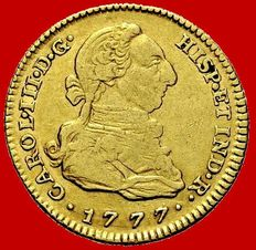 Spain - Carlos III (1759-1788), doubloon of 2 gold escudos Madrid, 1777