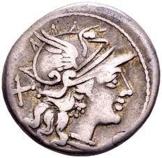 Roman Republic - Roman Republic. S. Afranius or Safranius, struck in Rome, 150 B.C.