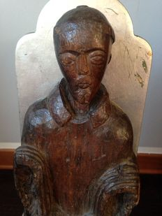 Wooden sculpture of a Friar, 17th century