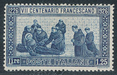 Italy   – 1926  – Sint Franciscus Sassone 196 perforation 13.5