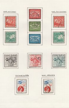 The Netherlands 1921/1966 – Collection Air mail – NVPH LP1/15 + some postal items