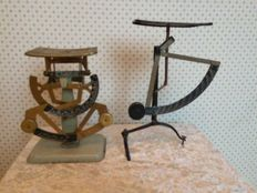 2 postal scales Netherlands, early 20th century