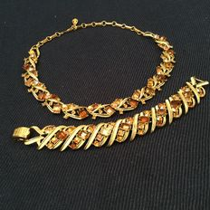 Vintage Coro necklace and bracelet - Signed