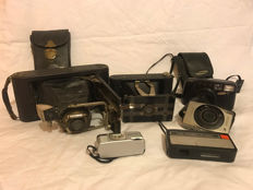 A collection of vintage cameras