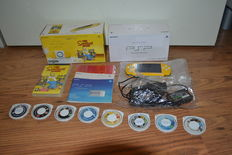 Sony PSP Slim & Lite 2004 Limited Edition Yellow The Simpsons Edition + 9 games