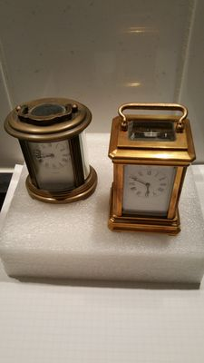 2 different mini-carriage clocks - 20th century