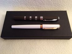 Parker- 2 Ingenuity Pens- Brown/Silver and Pearl/ 14K Rose Gold- New Condition, Flawless, Never Used