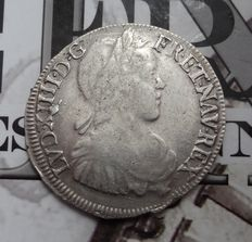 France – Louis XIV – 1/2 Ecu 1651-L Bayonne – silver