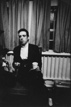 Kevin Cummins - Mick Jones - The Clash - backstage at Leicester De Montford Hall - January 1980