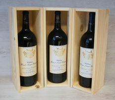 2003 Chateau Haut Saint-Georges, Appalation Saint-Georges-Saint-Emilion Controlée – 3 bottles of 150 cl in wooden cases