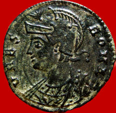 Roman empire - Urbs Roma follis (2,28 grs. 17 mm.) from Alexandria mint, 333-335 A.D. Commemorative series of Roma foundation. She-Wolf and twins, SMALA.