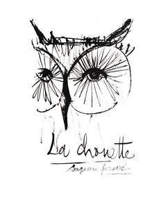 Bernard Buffet (after) - La Chouette