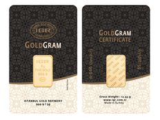 Brand new 5 grams gold bar from the LBMA refinery IGR (Istanbul Gold Refinery)