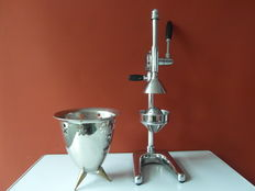 Very large twin design citrus press and champagne cooler in Alessi style