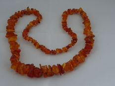 Necklace made of genuine Baltic amber, 44 grams