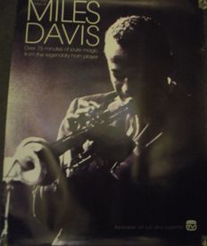 Miles Davis. Rare, UK 'in store' promotional poster.