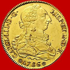 Spain – Carlos III (1759 – 1788), doubloon of 8 gold escudos - 1786 - Seville
