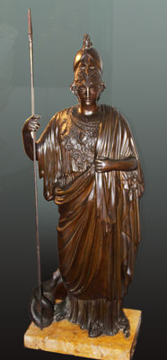 Bronze sculpture of the goddess Minerva - late 18th century