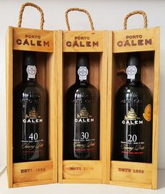 Calèm Aged Tawny Port: 20 years & 30 years & 40 years - 3 bottles