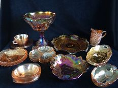 14 pieces lot Carnival glass