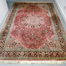 No reserve – Great opportunity: Beautiful 100% silk Kashmir Persian carpet – 230 x 160 – with certificate