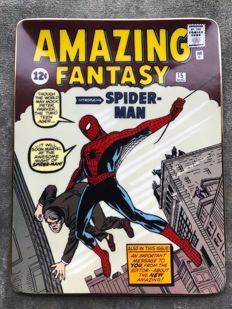 Franklin Mint - Plate - Amazing Fantasy # 15 introducing Spider-Man - (1998)