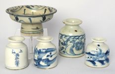 Ink pots and cup, China, 19th century