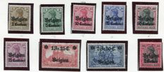 Belgium 1914/20 - Composition of occupation stamps