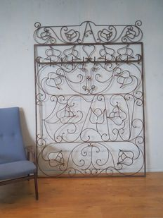 Cast iron decoration - made by a smith, ca. 1950, the Netherlands.
