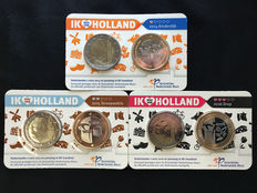 Netherlands – 2 Euros 2014, 2015, and 2016 (3 different ones) in Coin cards
