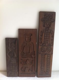 Three antique baker's boards - approx.1930-Netherlands