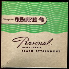 "View-Master ""Personal Flash Attachment"" from 1952 in original box with original user manual"