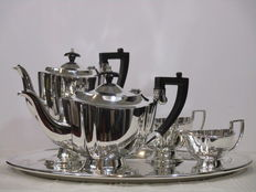 Coffee and Tea set - 5 piece - Chippendale  ca. 1950