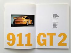 1995 Porsche 911 GT2 3.6 & 911 Carrera RS 3.8 brochure.