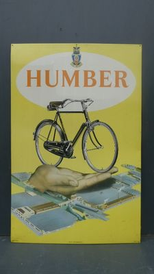 Advertising sign Humber bicycles