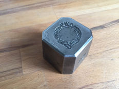 Heavy French factory stamp with beautiful engraving - metal.