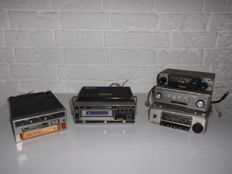 Becker Europe, Philips, Ten Car Stereo - 5 items - 3x car radio - 1x 8 track player - 1x cassette/8 track player
