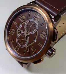Pierre Renoir Brown - XL Size - All Brown - 2000 - Men's Chronograph