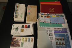 Netherlands Overseas Territories - Batch on loose sheets and FDCs