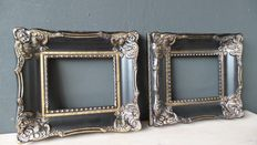 Two Baroque picture frames-20x25cm-21st century