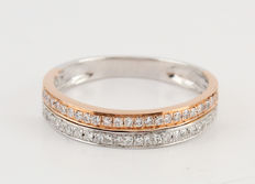 18kt half eternity diamond ring 0.15ct. G-H/ VS2. - size 53.5 / 1.40gr
