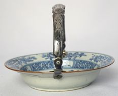 Deep plate with silver handle - China - 18th Century