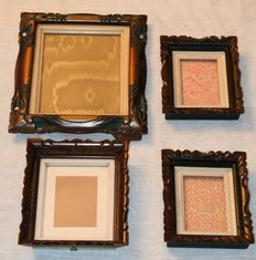 Four solid wood Art Deco style photo frames-Belgium-first half of 20th century