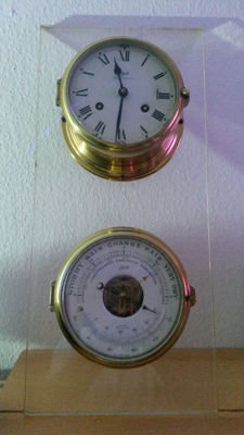 Schatz striking clock with barometer Royal series - Mariner - around 1970