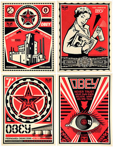 Shepard Fairey (OBEY) - Set OBEY x LEVIS Project 09 (+ Natural Springs signed offset poster)